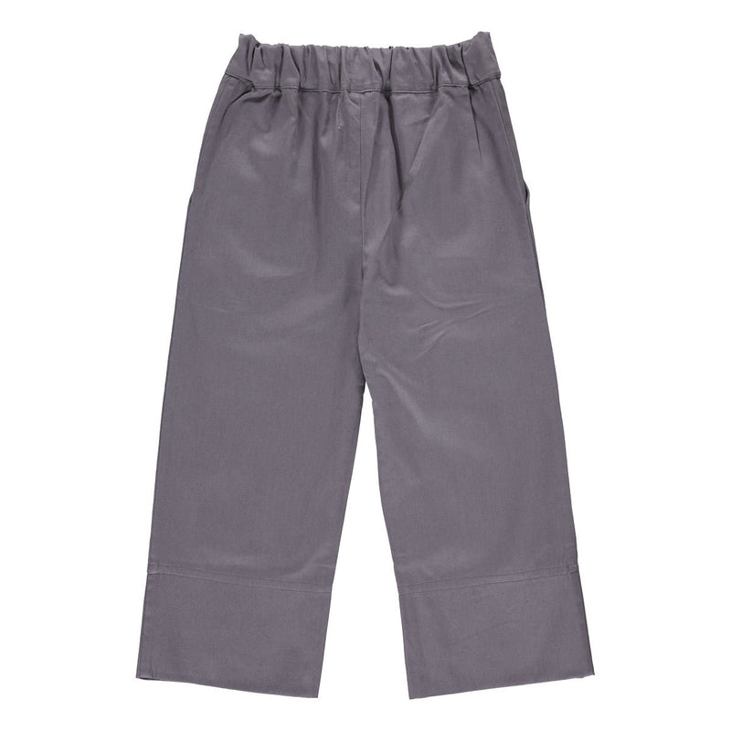 Leonardo pants steel grey twill