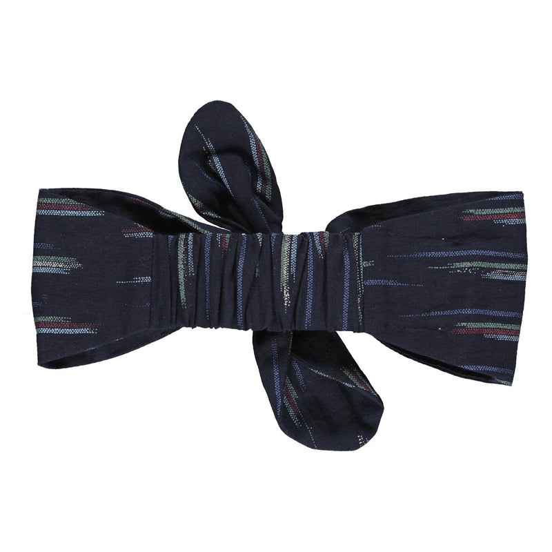 Lilly hairband dark blue ikat