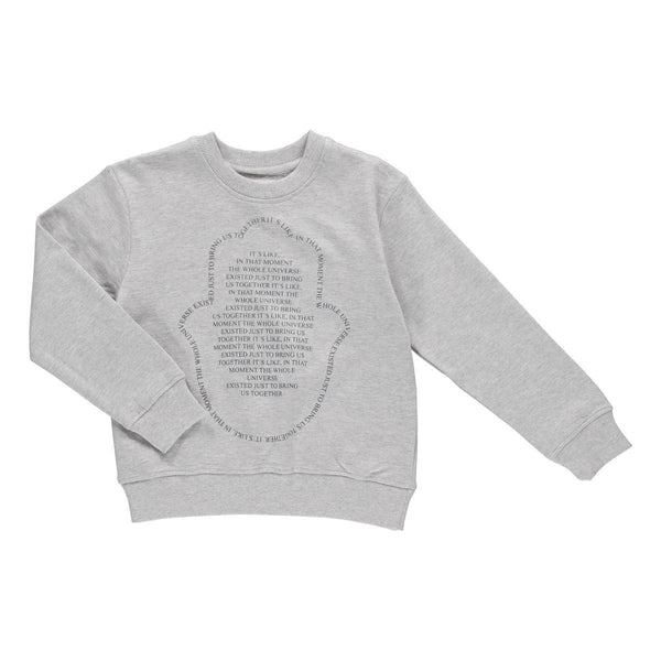 Unisex statement sweatshirt grey