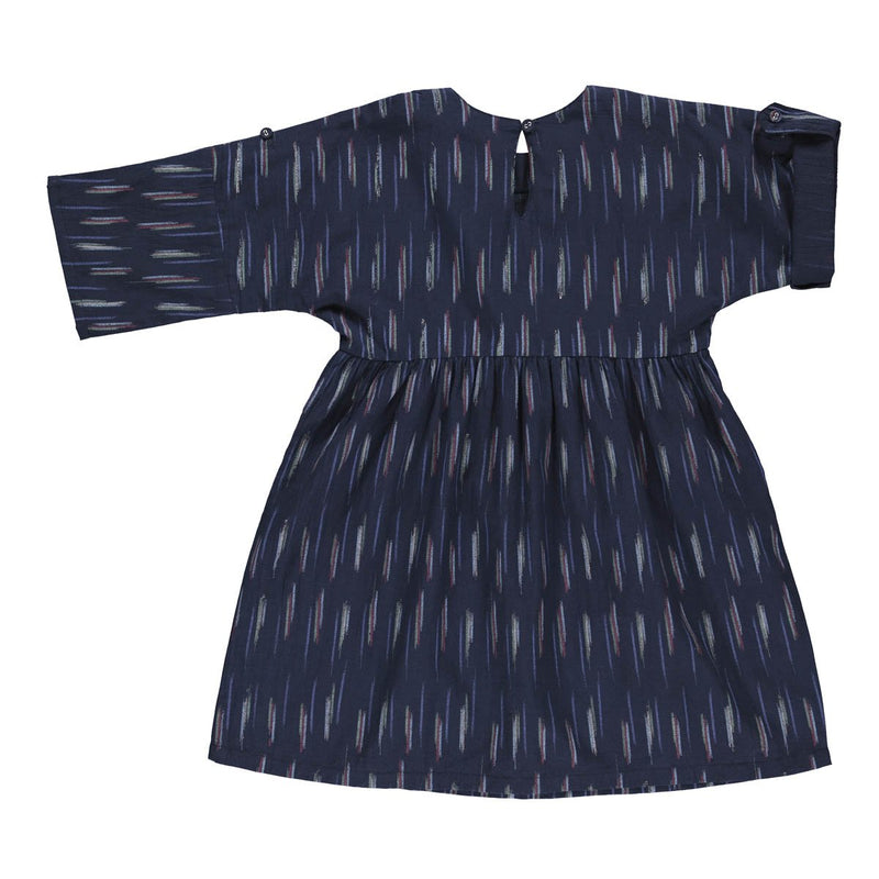 Agatha dress dark blue ikat