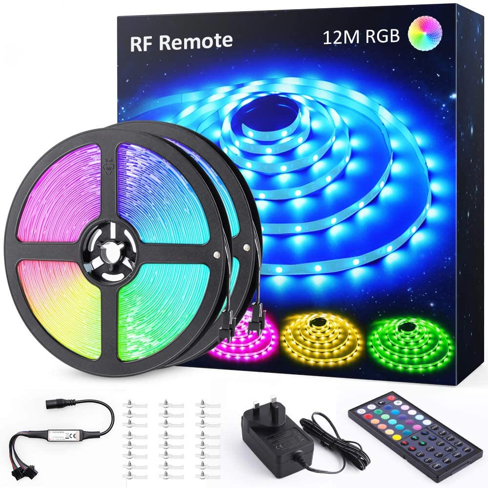 16M 52.5ft RGB LED Strip Lights, Color Changing TikTok Light Strip with 44 Keys RF Remote