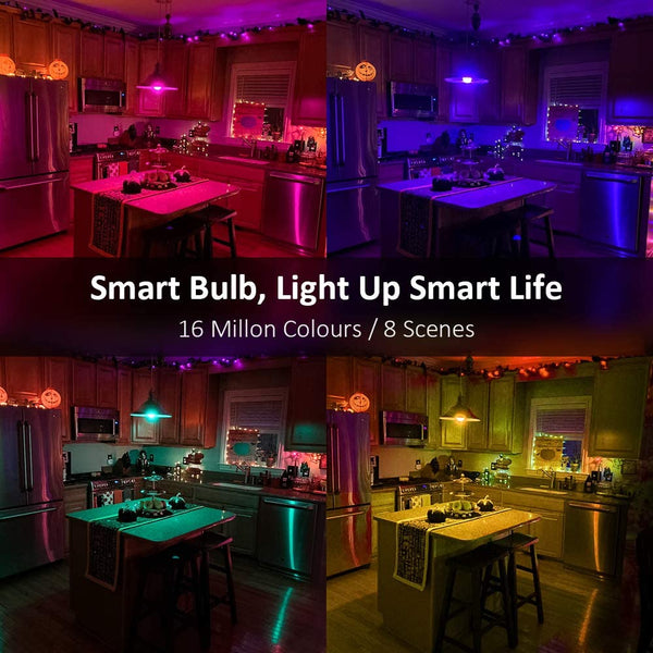 3 Pack 13W Brightest Smart Light Bulb, RGBCW Color Changing WiFi Light Bulbs
