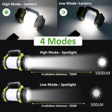 Load image into Gallery viewer, Novostella Rechargeable 1000LM CREE LED Spotlight, Multi Function Waterproof Outdoor Camping Lantern
