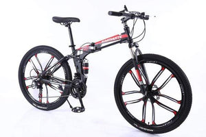 21 Speed Mountain Bike 24 26 inch carbon steel folding bike double disc brake adult bicycle 3/6 and 10 knife wheel student bike
