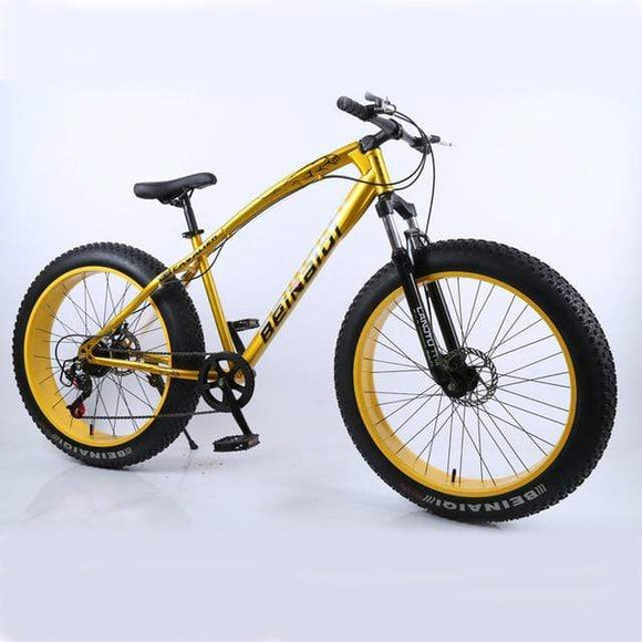 26inch Mountain Bike Big Tire 7-speed Mountain Bicycle Shock-absorbing Beach Bike 4.0 Extra Large Tire Variable speed Snow bike