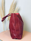 Tasche Big Leather Bordo