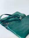 Tasche Mini Sally Laminato Verde Scuro