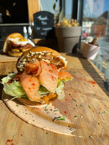 Smoked Salmon & Cream Cheese Bagel - Haystack Cafe