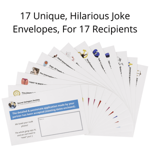Pack of 17 Funny Prank Envelopes - Gag Gift Practical Jokes And Pranks For Adults