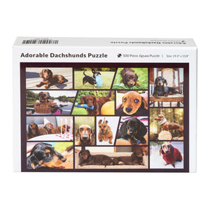 Adorable Dachshunds Jigsaw Puzzle - Gifts for Dog Lovers, Family Puzzle - 500 Piece Puzzle