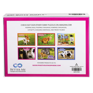 Cat Butts Puzzle – Funny Prank Gag Gift for Cat Lovers and Owners – 500 Piece Jigsaw Puzzle