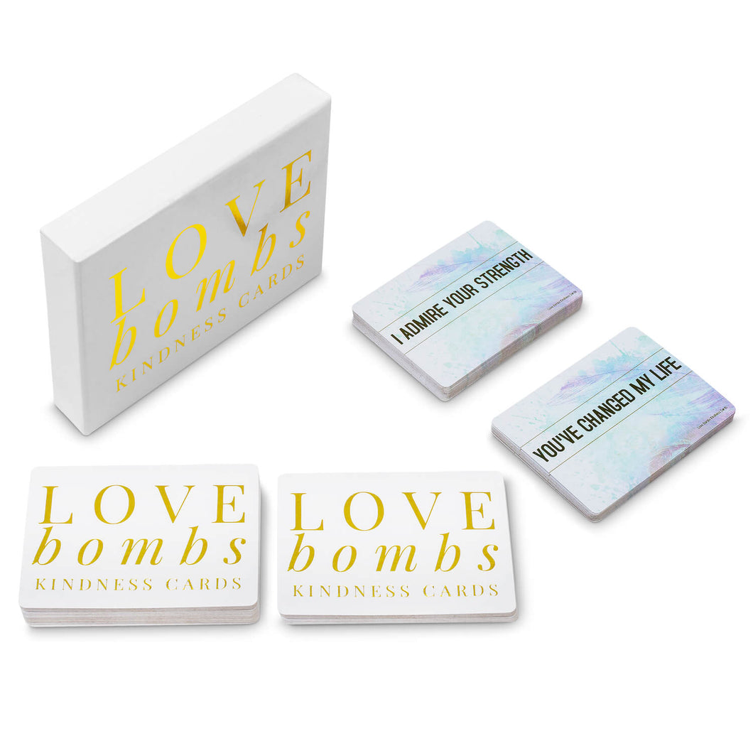 Love Bombs Kindness Cards, Sincere Appreciation, Compliment & Encouragement Cards. Gratitude Gifts for Couples, Families & Friends