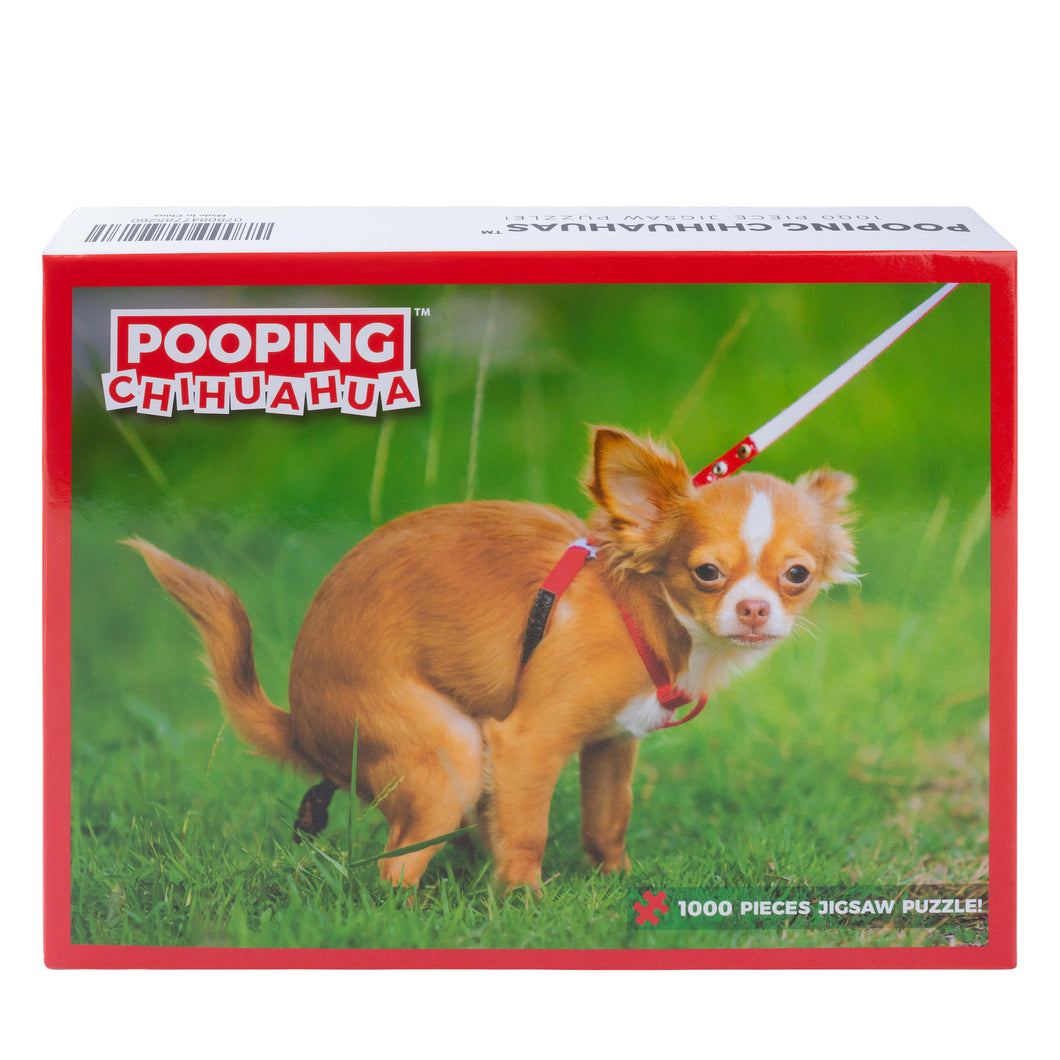 Pooping Chihuahua Puzzle – Funny Prank Gag Gift for Dog Lovers and Owners – 1000 Piece Jigsaw Puzzle