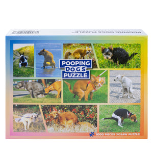 Pooping Dogs Puzzle – Funny Prank Gag Gift for Dog Lovers and Owners – 1000 Piece Jigsaw Puzzle
