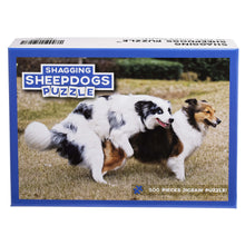 Load image into Gallery viewer, Shagging Sheepdogs Puzzle – Funny Prank Gag Gift for Dog Lovers and Owners – 500 Piece Jigsaw Puzzle