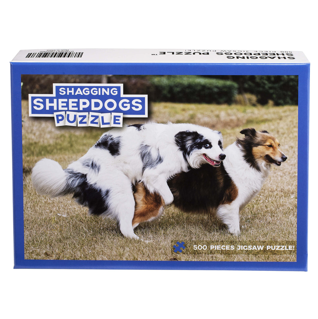 Shagging Sheepdogs Puzzle – Funny Prank Gag Gift for Dog Lovers and Owners – 500 Piece Jigsaw Puzzle