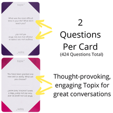 Load image into Gallery viewer, TOPIX Conversation Cards - 424 Thought-Provoking Conversation Starters