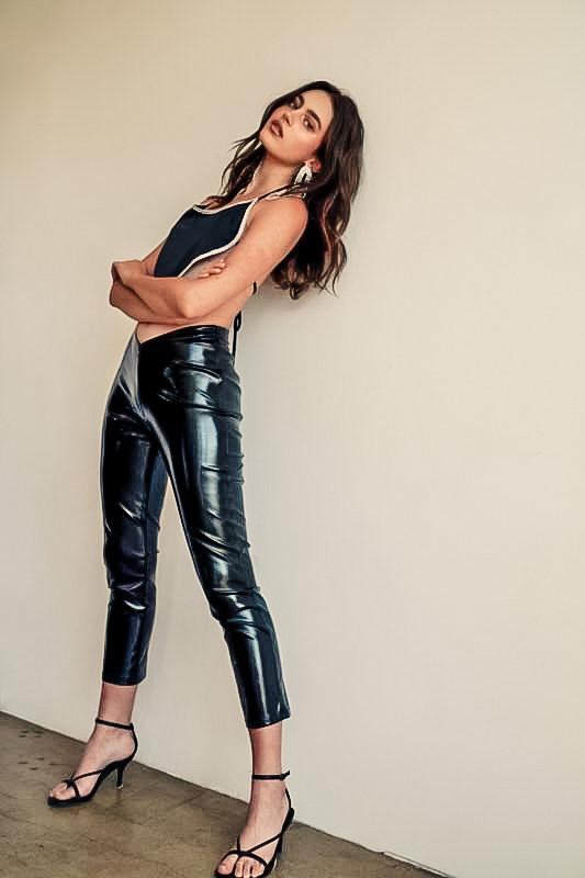 Harper Vegan Leather Pants - Lylah's