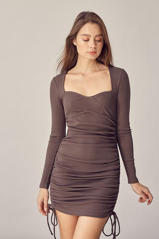 Mila Ruched Mini Dress - Lylah's