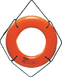 "Cal June - 24"" Orange Life Ring Buoy - Marine Fiberglass Direct"