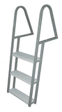 JIF Marine - 3 Step Tie Down Dock Ladder - Galvanized Steel - FDQ3-GA