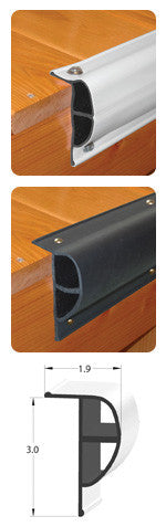 "Taylor Made Products - Dock Pro™ Standard ""P"" Shape Black 10' Coil - Marine Fiberglass Direct"