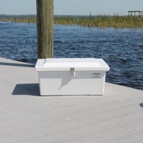 "Sea-Line Fiberglass Dock Box - 12""H X 25""W X 17""D - SL10 - Marine Fiberglass Direct"