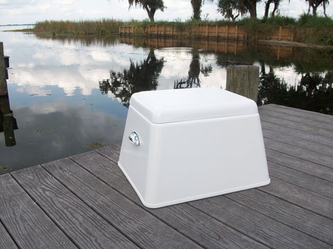 "Rough Water Fiberglass Step Box - 14""H x 22""W x 17.5""D - RWSB02 - Marine Fiberglass Direct"