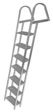 JIF Marine - 7 Step Dock Ladder w/ Mounting Hardware - ASH7 - Marine Fiberglass Direct