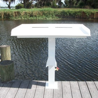 "Rough Water Fish Cleaning Station Fillet Table 40"" x 23"" x 1/2""- RWFCS01PED - Marine Fiberglass Direct"