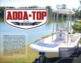 "ADDA-Top Universal T-Top - 61"" Sport - Hard Top in a Box - Marine Fiberglass Direct"
