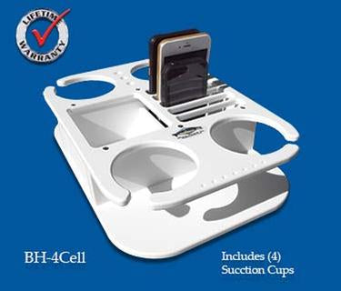 "Beverage/Cup/Drink Cell phone holder- 9 3/4"" x 14"" x 3"" -BH4CELL - Marine Fiberglass Direct"