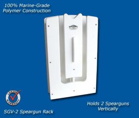 Spearfishing Speargun Holder Rack - Store One to Two Guns - Marine Fiberglass Direct