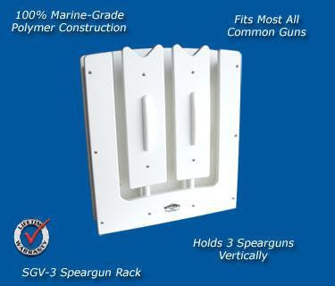 Spearfishing Speargun Holder Rack - Store One to Three Guns - Marine Fiberglass Direct