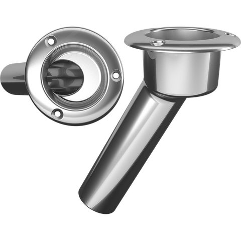 Mate Series 30 degree, Round Top 316 Stainless -C1030ND Rod Holder - Marine Fiberglass Direct