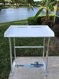 "Sea-Line Four Leg Fish Cleaning Station Fillet Table Dock Aluminum 40"" x 23"" - SLFCS40-4 - Marine Fiberglass Direct"