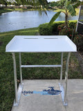 "Sea-Line Four Leg Fish Cleaning Station Fillet Table Dock Aluminum 50"" x 23"" -SLFCS50-4 - Marine Fiberglass Direct"