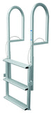 JIF Marine - 3 Wide Step Dock Lift Ladder - Anodized Aluminum - DJX3W - Marine Fiberglass Direct