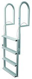 JIF Marine - 4 Wide Step Dock Lift Ladder - Anodized Aluminum - DJX4W