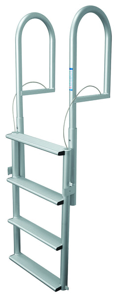 Jif Marine 4 Wide Step Dock Lift Ladder Anodized