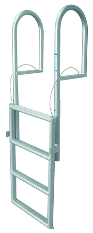 JIF Marine - 4 Step Dock Lift Ladder - Anodized Aluminum - DJX4 - Marine Fiberglass Direct