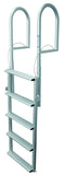 JIF Marine - 5 Wide Step Dock Lift Ladder - Anodized Aluminum - DJX5W - Marine Fiberglass Direct