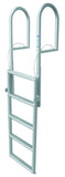 JIF Marine - 5 Step Dock Lift Ladder - Anodized Aluminum - DJX5 - Marine Fiberglass Direct