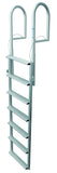 JIF Marine - 7 Wide Step Dock Lift Ladder - Anodized Aluminum - DJX7W - Marine Fiberglass Direct