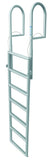 JIF Marine - 7 Step Dock Lift Ladder - Anodized Aluminum - DJX7 - Marine Fiberglass Direct