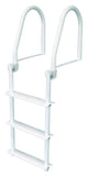 JIF Marine - 3 Step Flip Up Ladder - White - FBM3 - Marine Fiberglass Direct