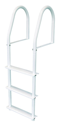 JIF Marine - 3 Step Stationary Ladder - White - FBMS3 - Marine Fiberglass Direct