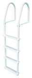 JIF Marine - 4 Step Stationary Ladder - White - FBMS4 - Marine Fiberglass Direct