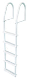 JIF Marine - 5 Step Stationary Ladder - White - FBMS5 - Marine Fiberglass Direct
