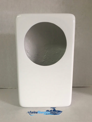 "13¾"" x 8¼"" x 4-1/8"" Fiberglass Speaker Box for 6.5"" Speakers - NOT Painted/Unfinished - Marine Fiberglass Direct"